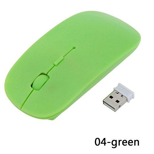 Kinbelle Tragbare 2,4GHz 4Tasten Optische USB Wireless Gaming Maus für Laptop PC MacBook (Optical Desktop Wireless Combo)