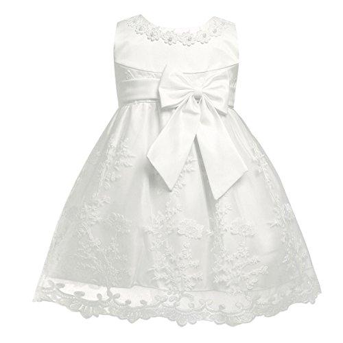 Tiaobug Baby Mädchen Kleid Prinzessin Hochzeit Taufkleid Blumenmädchen Festlich Kleid Kleinkind...