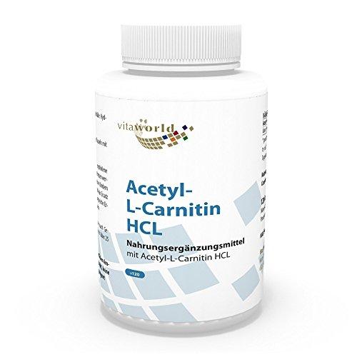 Vita World Acetil L-Carnitina 1000mg 120 capsule elevata biodisponibilità Made in Germany