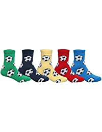 Supersox Kid's Pack of 5 Regular Combed Cotton Terry Socks Combo-1