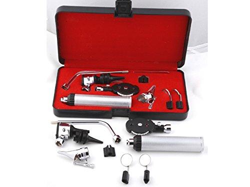 Otoskop-Sehr gutes ENT- Otoskop/Diagnostik Set- 14-teilig in einer schwarzen Box- rostfreier Edelstahl- Lieferung inklusiver Batterien