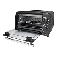 Unibos 9L Black Mini Oven & Grill 800W with Baking Tray & Wire Rack – Ideal for all Occ...