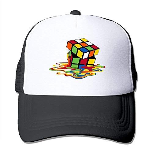 dfegyfr Melting Rubika€S Cube Adjustable Sports Mesh Baseball Trucker Kappen Sun Hats Unisex1