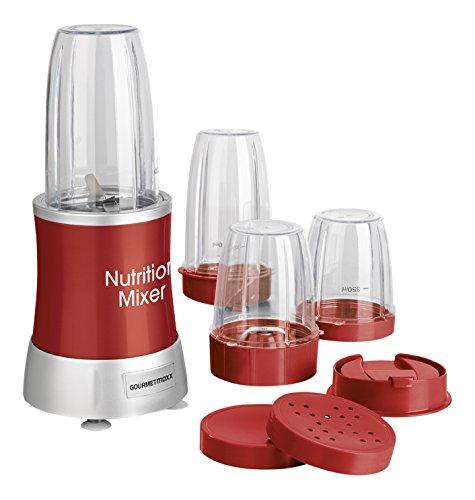 GOURMETmaxx 09818 Nutrition Mixer 13-teilig, 700 W, rot -