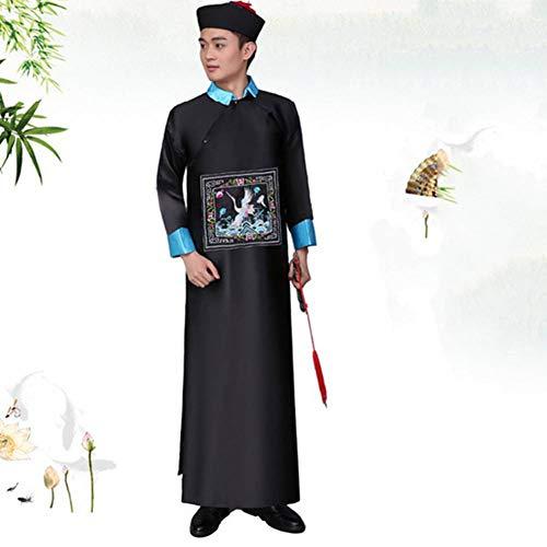 GUAN Halloween Zombie Kostüme Qing Dynasty Kostüme offizielle Uniformen Gonggong Eunuch Kostüme Ghost Festival Erwachsenen Zombie - Dynastie Kostüm