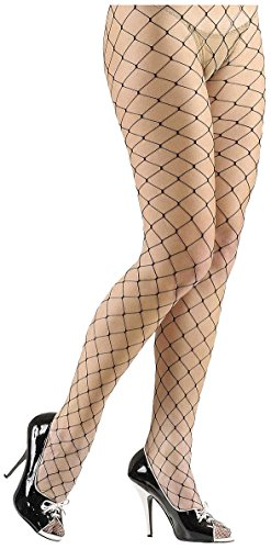 Pantyhose Wide Fishnet Black Lycra Accessory for Lingerie Fancy (Black Fancy Dress Ideen)