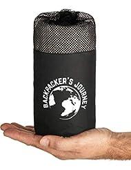 Backpacker's Journey 2in1 Hüttenschlafsack mit durchgängigem Reißverschluss: Leichter Komfort Reiseschlafsack und Reisedecke in Einem. Kombinierbar zu 2 Personen Schlafsack