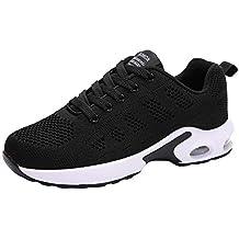 Zapatillas Running Mujer,YiYLunneo Malla Exterior Shoes Deportivas Informales Sneakers con Amortiguación de Aire con