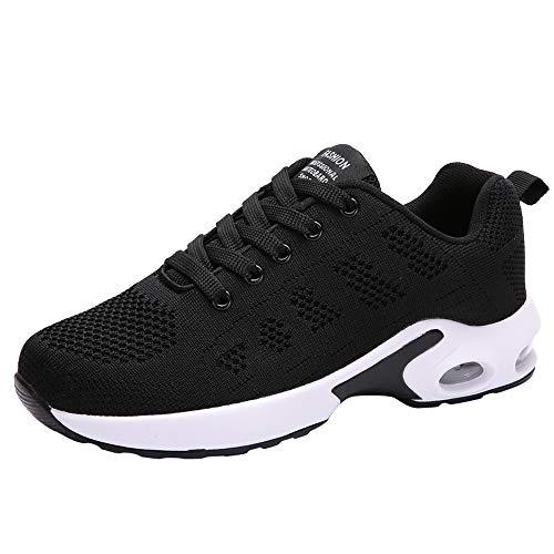 POLPqeD Donna Air Scarpe da Ginnastica Corsa Sportive Running Fitness Sneakers Basse Interior Casual all'Aperto Leggero e Traspirante 35-40 EU