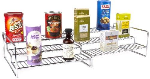 Andrew James - 3-Stöckiges Ausziehbares Küchenregal -Aufbewahrungssystem