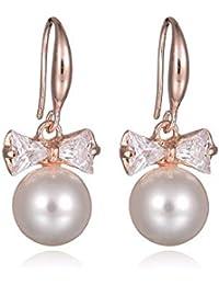 de5f7cd2f5c1 QIANZHIHEA Pendientes Joyas para Mujer Pendientes De Perlas De Imitación  Venta Al por Mayor Flash Circon