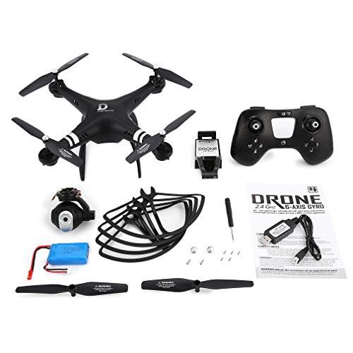 GreatWall X8 RC Drone 720P Fotocamera Regolabile FPV RC Drone 18 Minuti Altezza di Volo Tenere Il Nero