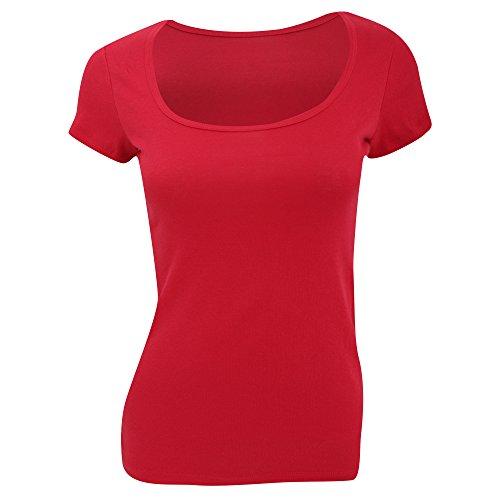 Bella - T-shirt à manches courtes - Femme Rouge