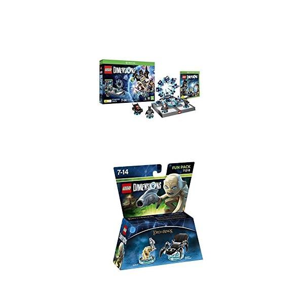 LEGO - Starter Pack Dimensions (Xbox One) + LEGO Dimensions - Figura El Señor De Los Anillos, Gollum 1