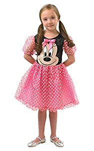 Rubies 888831L Disfraz Oficial de Minnie Mouse, para niños, Grande (Edades de 7 a 8 años)