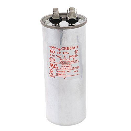MagiDeal CBB65 450V AC 50/60HZ Condensateur du Moteur du Climatiseur 55-100VF pour Micro-Moteur Pompe à Eau Ventilateur - 60VF