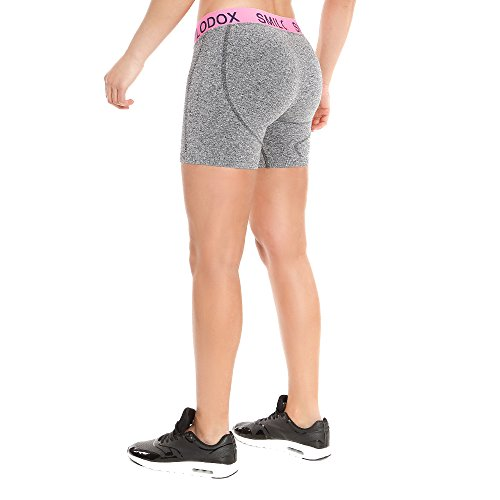 SMILODOX Hotpants für Damen | Nahtlose Sporthose mit optimalem Tragekomfort | Sport Shorts für Fitness, Training, Yoga und Freizeit | Seamless Slide Anthrazit