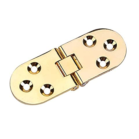 80* 30mm 2Untertritt Scharnier Zink Legierung Mini-Scharniere rund Rand Möbel Flip Tablett Scharnier für Kabinett Schrank Schreibtisch Klapptisch gold