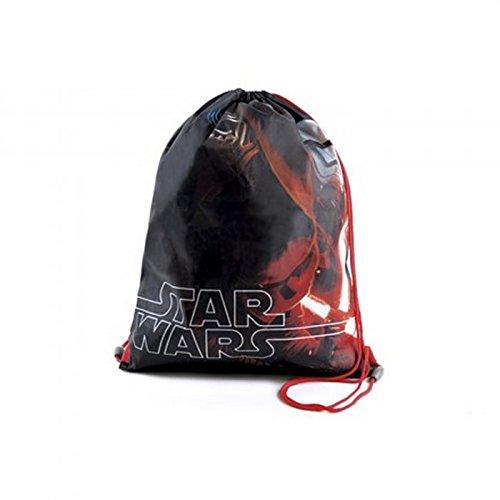 Disney - Mochila de cuerdas de Star Wars para niños (Talla Única/Negro/Rojo)