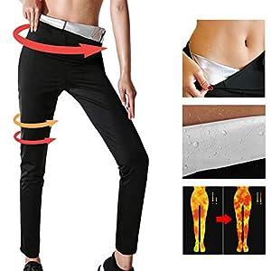 YILVV Gewichtsverlust Hosen Sauna Hosen, Womens abnehmen Hosen Hot Thermo Neopren Sweat Sauna, Schwitzhose für Frauen Fettverbrennung