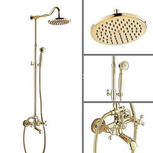 Wandmontage Badezimmer 8 Zoll Regendusche Wasserhahn Set Badewanne Wasserhahn Dual Cross Griffe agf604 ()