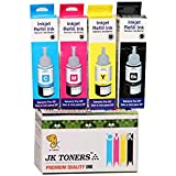 JK Toners Compatible With EPSON L100 / L110 / L130 / L200 / L210 / L220 / L300 Multi Color Ink