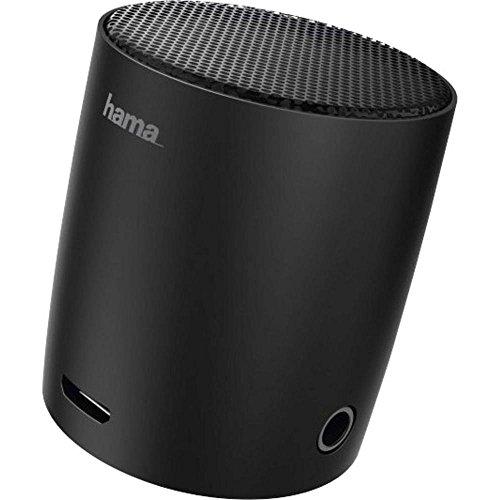 Hama Mini Drum Mono Portable Speaker 3W Schwarz - Tragbare Lautsprecher (1.0 Kanäle, 3 W, 180-20000 Hz, 4 Ohm, 1%, Verkabelt & Kabellos) Schwarz Portable Speaker