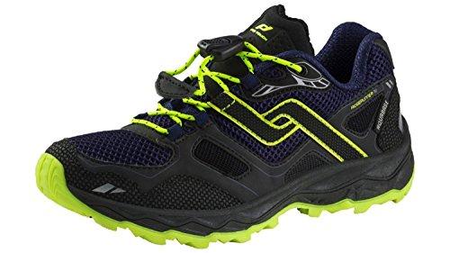 Pro Touch Trail-Run-Schuh Ridgerunner Iv Aqb Jr - schwarz/navy/gelb, Größe:38