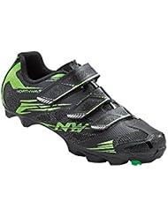 Northwave Scorpius 2 zapatos bicicleta de montaña, negro-verde-fluoro, schuhgröße:gr. 44