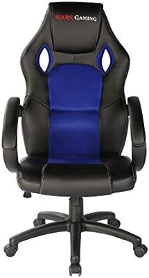 Mars Gaming MGC1 - Silla Gaming profesional (inclinación, altura y apoyabrazos regulables, ergonómica, acolchada y cómoda, ruedas)