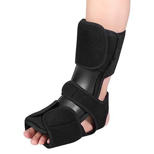 Healifty Fußschiene Sprunggelenk - Fußbandage Schlingen, Brace Fußschiene Einstellbar, Achilles Entzündung, Schmerzen Linderung, Knöchel Nacht Klammer -