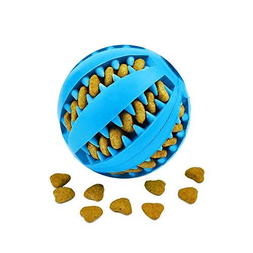 Nozdom Giocattolo Palla per Cane, Gioco Palla Rimbalzante Cane, Giocattolo Resistente Palla per Cani, Palla per Pulito dei Denti di Cane Pulizia Denti Cane - 7cm di Diametro, 1pack Blu