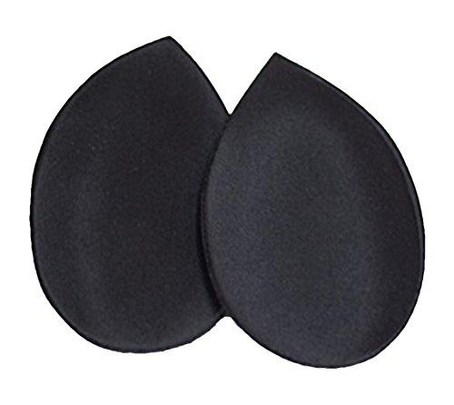 Lingerie astuce décolleté: 2 coussinets noirs push up pour soutien gorge