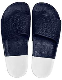 Azul Azul Sandalias Hombre de para de Slydes Vestir Marino Sintético 0qfd8