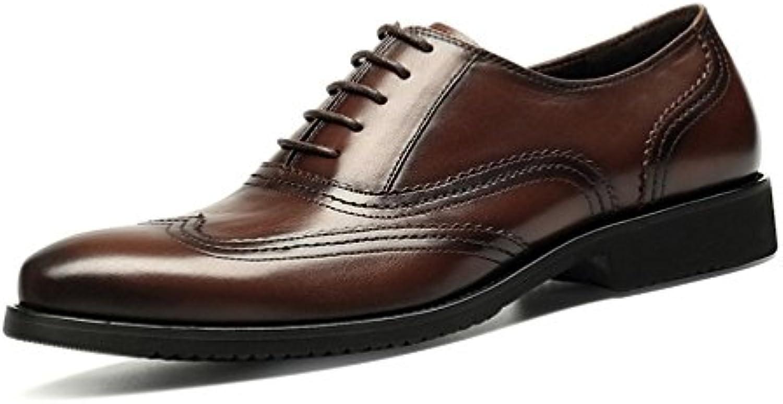 LYZGF Scarpe da Uomo in Pelle di Pizzo da Uomo Fashion Business Casual da Uomo | Qualità In Primo Luogo  | Uomo/Donna Scarpa