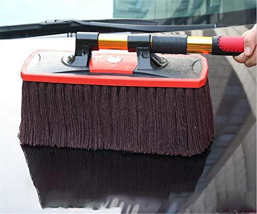 CASEY-L Auto-Waschbürste, drehbare einziehbare Wachs-Bürsten-Staub-Reinigung großer Anhänger, der das Autopelz Nicht verletzt fegt