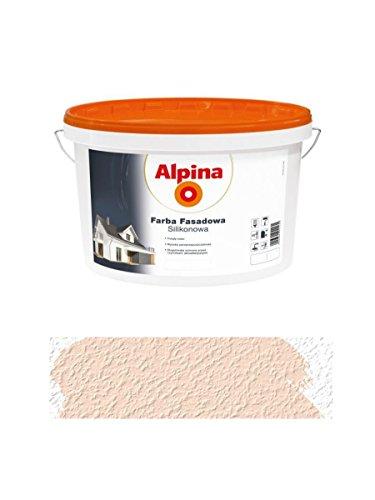Alpina 2,5 L Silikon-Fassadenfarbe außen Tiramisu, Pfirsichfarben, matt