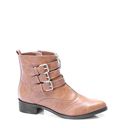 Bottes très élégantes, très chique, chaussures femme, modèle 11064104001428, noir ou marron, différents modèles et tailles. Marron.