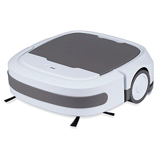 GoClever Comfort Cleaner Staubsauger Roboter mit Nasswischfunktion, Sensoren und 3 verschiedenen Reinigungsmodi: Automatikmodus, Spiralmodus, Kantenreinigungsmodus - 2600mAh starker Akku - nur 7 cm hoch - Robosauger Staubsaugerroboter Robotersauger Sauger staubsaugen putzen wischen Anti-Kollision Anti-Fall 2h Betriebszeit Saugroboter Roboterstaubsauger