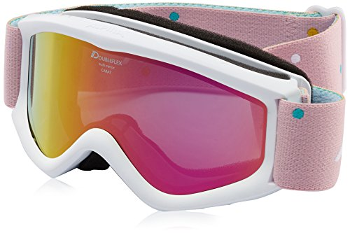 ALPINA Kinder Carat D mm Skibrille, Rosa, One Size
