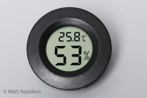 M&S Digitales Thermo-Hygrometer RUND (small) WEEE RegNr. 82392108