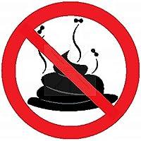 NEU NO SMOKING SCHILD NICHT RAUCHEN BULLDOGGE VERBOTEN HINWEISSCHILD RAUCHVERBOT