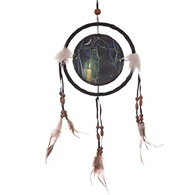 Decorative Midnight Vigil Cat Design 16cm Dreamcatcher
