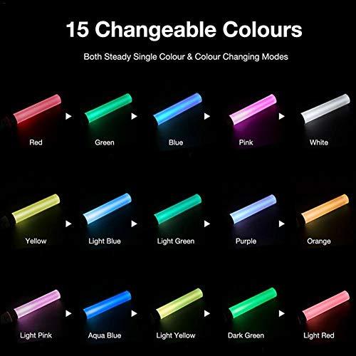 juman634 15 Farben LED Light Stick Wiederverwendbare mehrfarbige blinkende Sticks Farbwechsel Schaum Strobe für Party Festivals Raves Geburtstage Kinder Spielzeug
