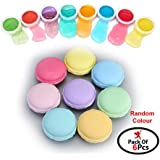Party Propz Macaroon Crystal Slime kit Jelly DIY Toy Mud Clay Soft Squishy Pudding Toy for Kids Education Gift (Set of 6)