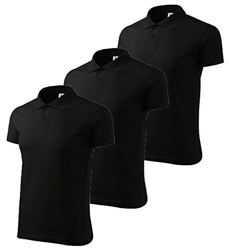 3er Pack Dress-O-Mat Herren Poloshirt Shirt Polohemd Gr L schwarz (3 Pack Polo-shirts)