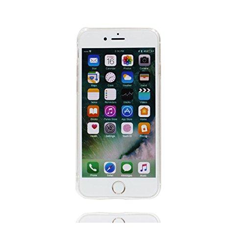 Copertura iPhone 6, iPhone 6S Copertura, TPU morbido protettivo colorato Ultra sottile Silicone TPU Trasparente Indietro Case Cover per iPhone 6/6s (4.7 ) Anti shock/ 3D Cartoon Gelato ( bianca ) Set 2