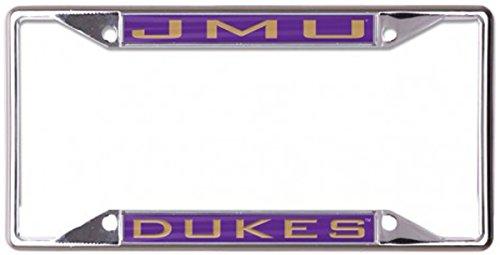 Wincraft Snack-Schale NCAA Universität James Madison JMU Dukes Metall Nummernschild Rahmen mit eingelegten Acryl, 4Halterung Löcher -
