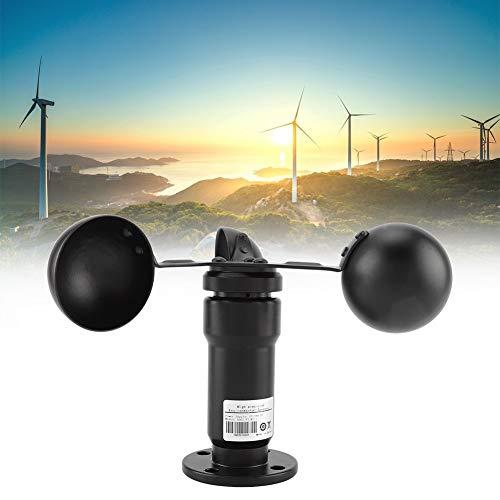 Eastbuy Sensor de Viento - Anemómetro de Aluminio con Sensor de Velocidad de Viento de Salida de señal de Pulso