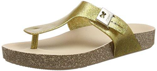 Zaxy Fashion Damen Plateausandalen Gold (Gold Glitter)